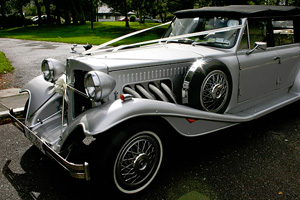 The Silver 1930s Beauford Convertible will make your Special Day Extra Special - Absolute Limos